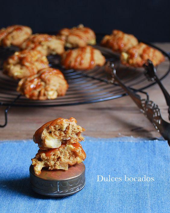 Galletas con manzana y caramelo - Dulces bocados