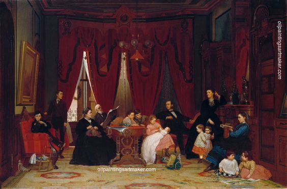 Eastman Johnson The Hatch Family, painting Authorized official website