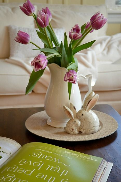 Easy Easter Decorating Ideas With Tulips