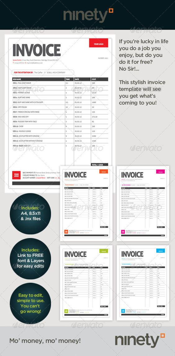 Free Invoice Template for designers \ Illustrators Art, Design - how do you do an invoice
