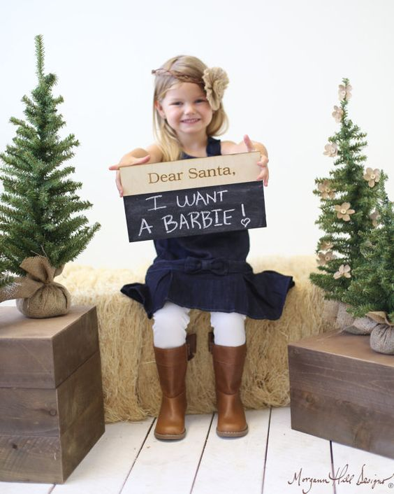Dear Santa Christmas Chalkboard Sign Photo Prop by braggingbags, $19.99