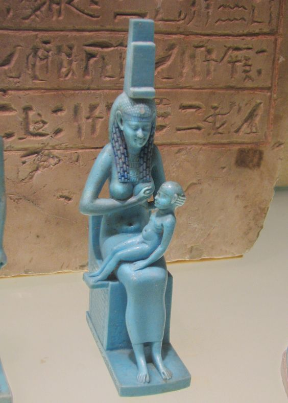 Statuette of Isis with Baby Horus  Macedonian and Ptolemaic Period, 332�30 B.C.E.