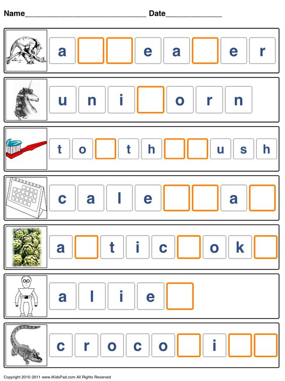 Printable spelling worksheets for kids | Spelling, Sight Words ...