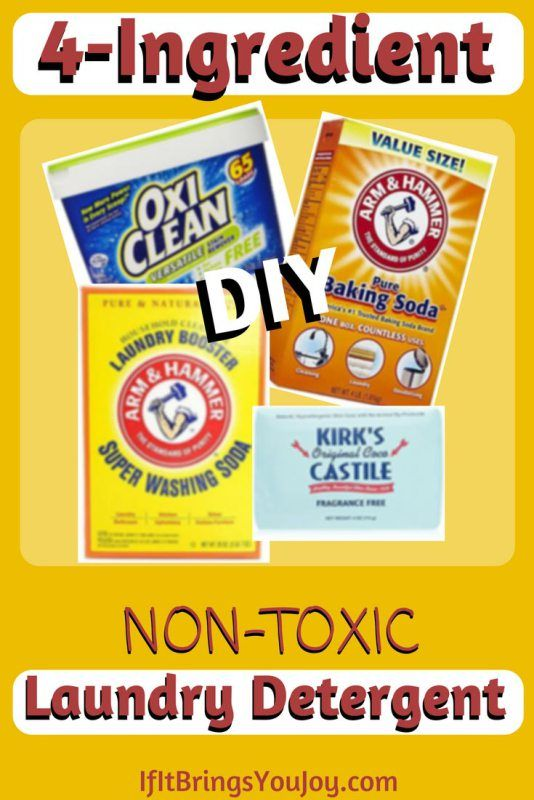 How To Make 4 Ingredient Non Toxic Laundry Detergent Laundry