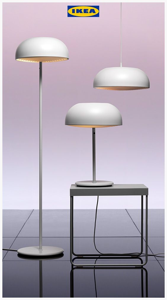 White floor Ikea NYMÅNE Floor lamp White #Whitefloor