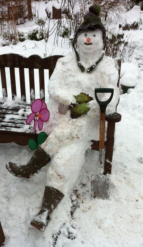 Snowman Snow And Taking A Break On Pinterest