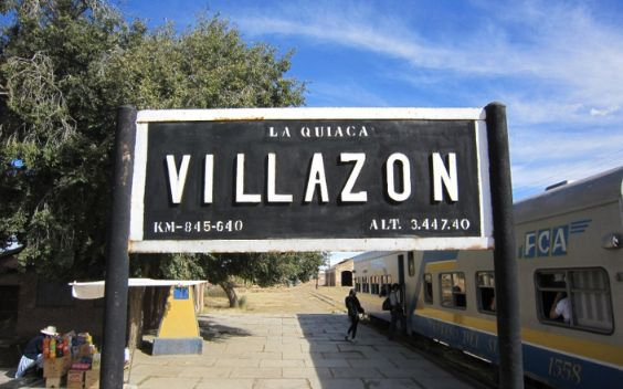 Villazon can be reached by train or bus