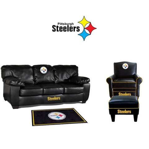 Pittsburgh Steelers Leather Furniture Set