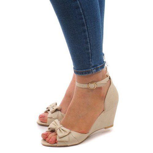 Sandaly Na Koturnie F1 43 Bezowy Womens Sandals Wedge Sandals Wedges