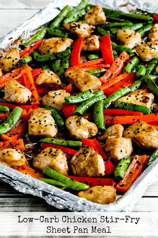 Low-Carb Chicken Stir-Fry Sheet Pan Meal