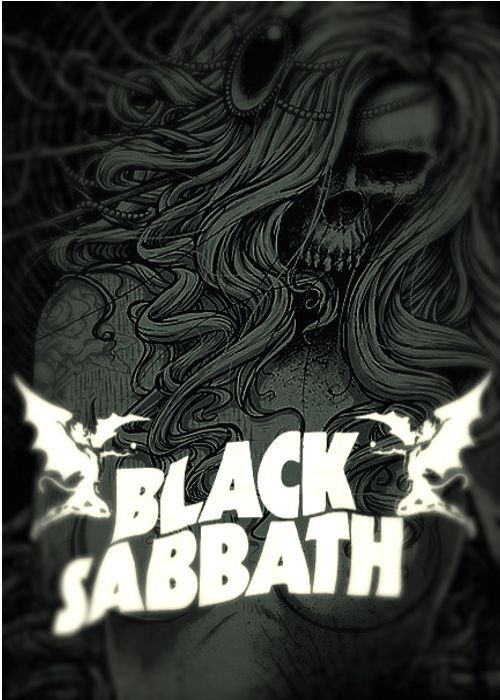 ☮ American Hippie Rock Metal Music Poster ~ Black Sabbath
