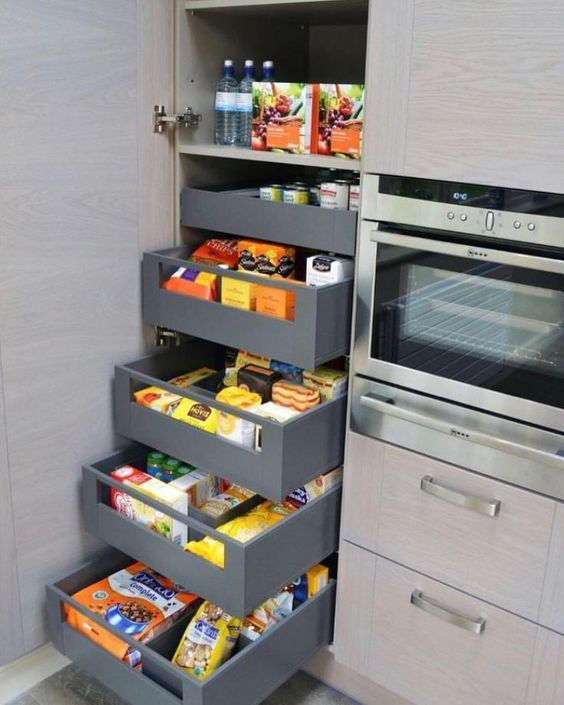 Applying Modern Kitchen Pantry Design With Small Kitchen Pantry