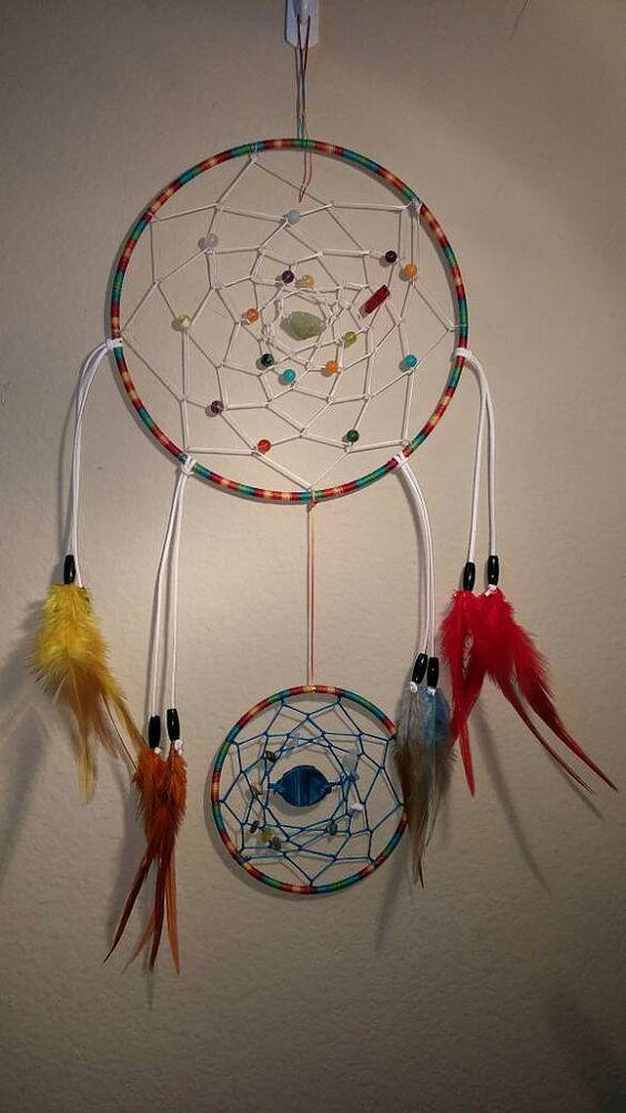 Rainbow Dream Catcher  Lakota Sioux Dream by LittleFoxDesignGifts