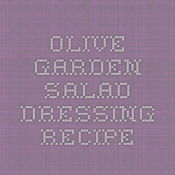 Olive Garden Salad Dressing Recipe