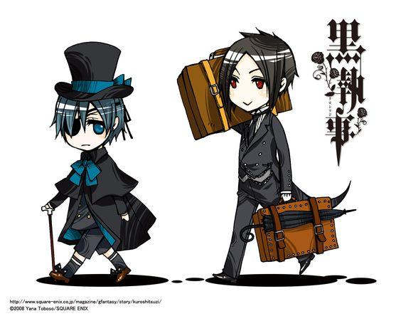 Chibi Ciel Phantomhive and Sebastian Michaelis from Kuroshitsuji