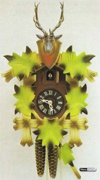 Amazon.com: German Cuckoo Clock 1-day-movement Carved-Style 13 inch - Authentic black forest cuckoo clock by Hekas: Home & Kitchen