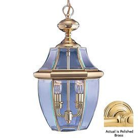 Livex Lighting Monterey 19-In H Brass Outdoor Pendant Light 2255-02