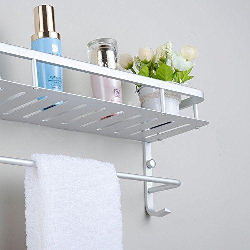 Moderne Aluminium Doppelhandtuchhalter Wandhalterung Fur Badezimmer Und Ein Handtuchhalter Regal Handtuchhalter Handtuchhalter Bad