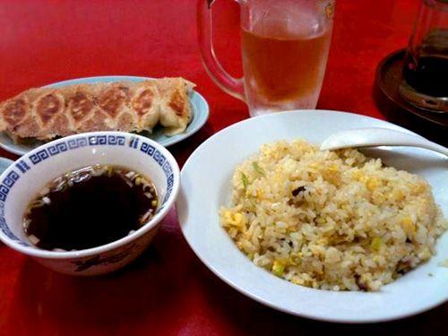 """餃子とチャーハン - 京急蒲田「你好」 dumplings and fried rice - """"NIHAO"""" KEIKYU-KAMATA, TOKYO, Japan"""