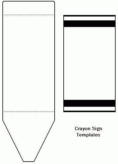 Freecraftunlimitedcom crayon template cards for Crayon label template