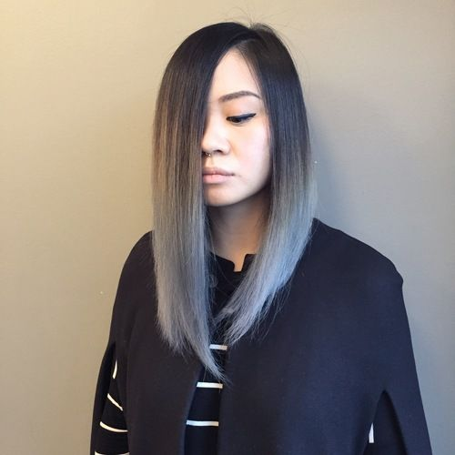gris cheveux bleus and balayage on pinterest. Black Bedroom Furniture Sets. Home Design Ideas