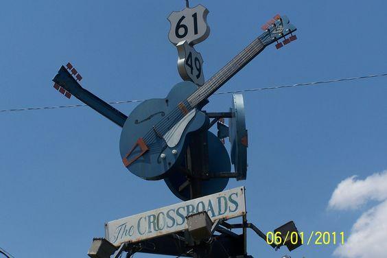 Mississippi Delta Blues Trail Crossroads in Clarksdale Mississippi