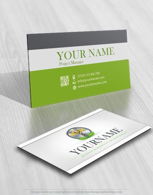 Exclusive Design Pharmaceutical Online Logo Free Business Card