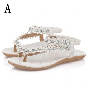 Flip Flop Sandalen Met Bloemen A Style