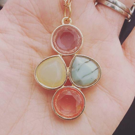 Oooh pretty new jewel pendants.  #comingsoon #etsy #handmade #etsycanadaseller #etsycanada #makersmovement #uniquelyetsy #jewels #pendants #stones #gold #jotd #necklace by twelve.twenty.three