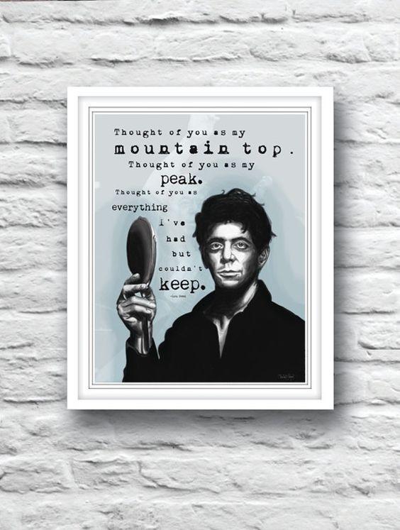 Lou Reed The Velvet Underground Pale Blue by SargentIllustration, $20.00