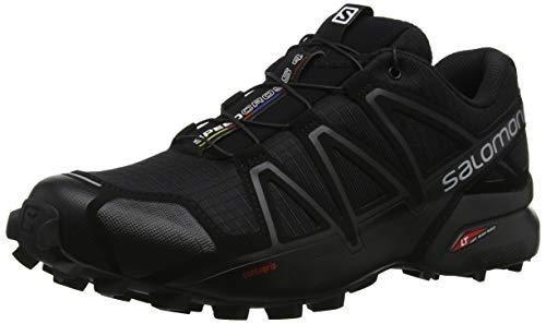 Salomon Chaussures Speedcross 4 Wide noir métallique