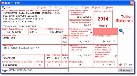 Account Abilityu0027s 1098-T User Interface for 2014 Account Ability - 1099 invoice