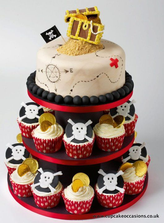 Pirate Cake. Pirate theme party ideas.