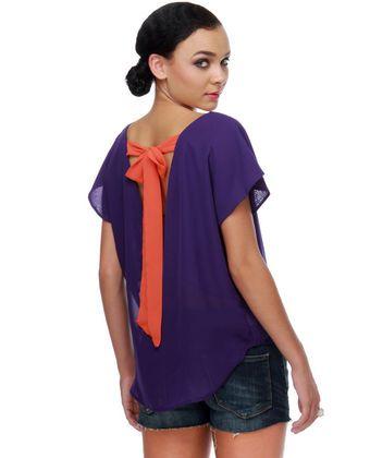 Cheer Squad Purple Top