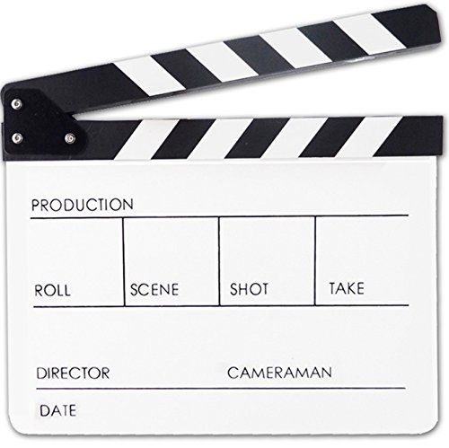 Discounted Professional Black White Acrylic Clapper Board Slate 156 700814699734 Black White Clapboar White Acrylics Black And White Photography Pricing