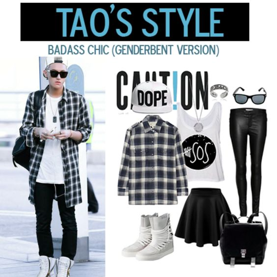 tao airport fashion, genderbent version ~ #exo: