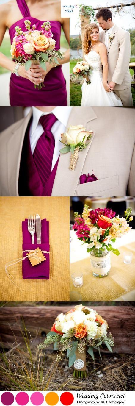 <3 <3 ADD diy www.customweddingprintables.com #customweddingprintables... Sangria and Shades of Orange