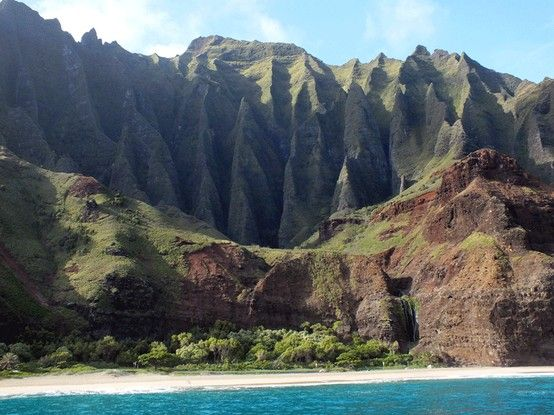Na Pali Coast, Kauai, Hawaii, USA im April 2013
