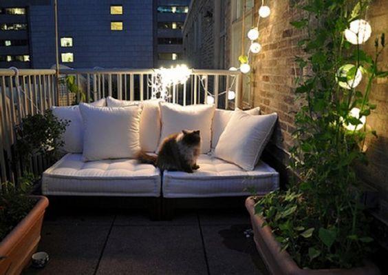 Sofá na varanda