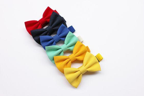 Papillon per bambino blu, giallo, verde mela, verde menta, farfallini per bambini, per ragazzi, cravatta cerimonia per paggetto matrimonio di ScoccaPapillon su Etsy