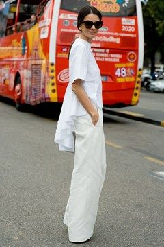 #LeilaYavari in all the right white in Milan.