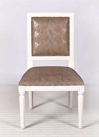 Scarsdale Faux Metallic Snakeskin Dining Chair - Set of 2