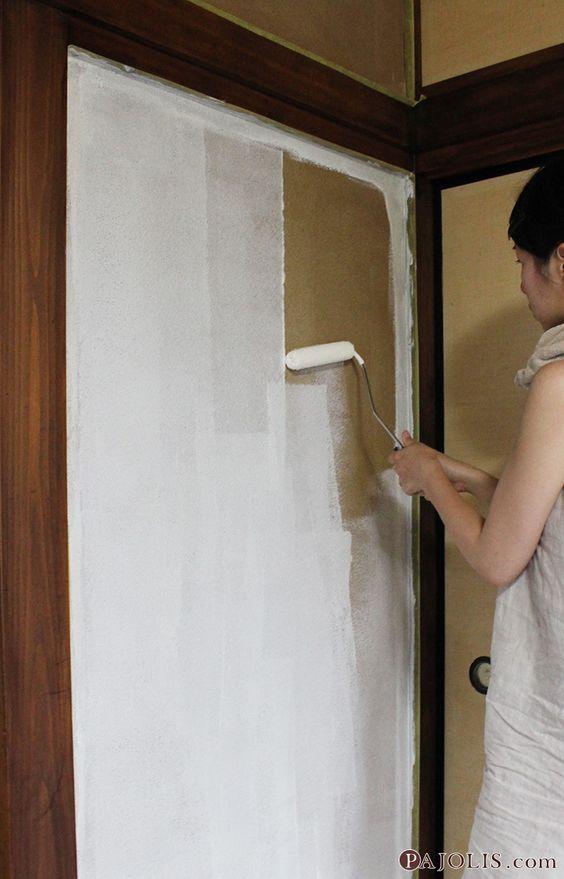 和モダンdiy 2 古くなった砂壁を漆喰壁に塗りかえよう 砂壁 壁 リフォーム 和室を洋室にリフォーム Diy