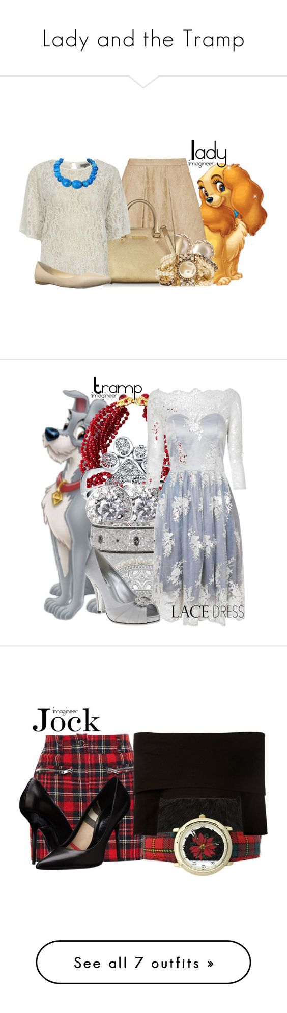 """""""Lady and the Tramp"""" by claucrasoda ❤ liked on Polyvore featuring Dolce&Gabbana, YooLa, Michael Kors, Alice & You, Nine West, Erickson Beamon, Bling Jewelry, Banana Republic, Wallis and True Decadence"""