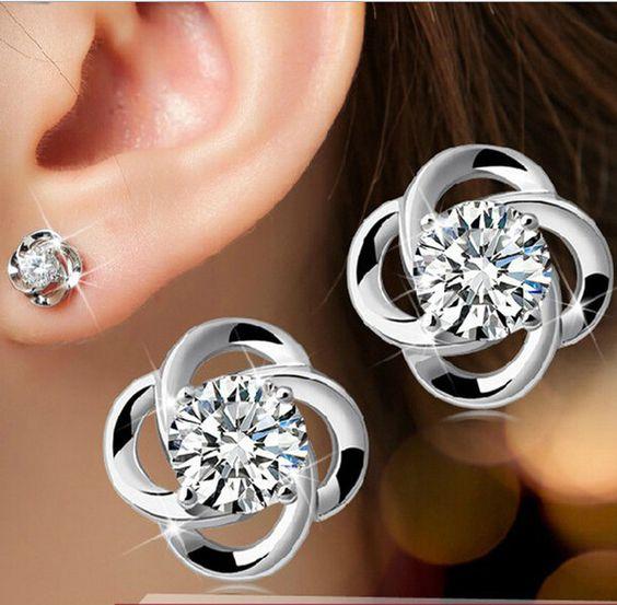 18k Platinum Plating Stud Earring - Weekdaygirl Nails & Beauty - 1