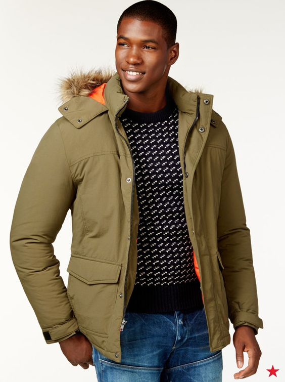 Finally, a warm jacket that's just his thing. This cool American ...