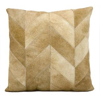 Shop for kathy ireland Solid Chevron Beige Throw Pillow (20-inch x 20-inch) by…