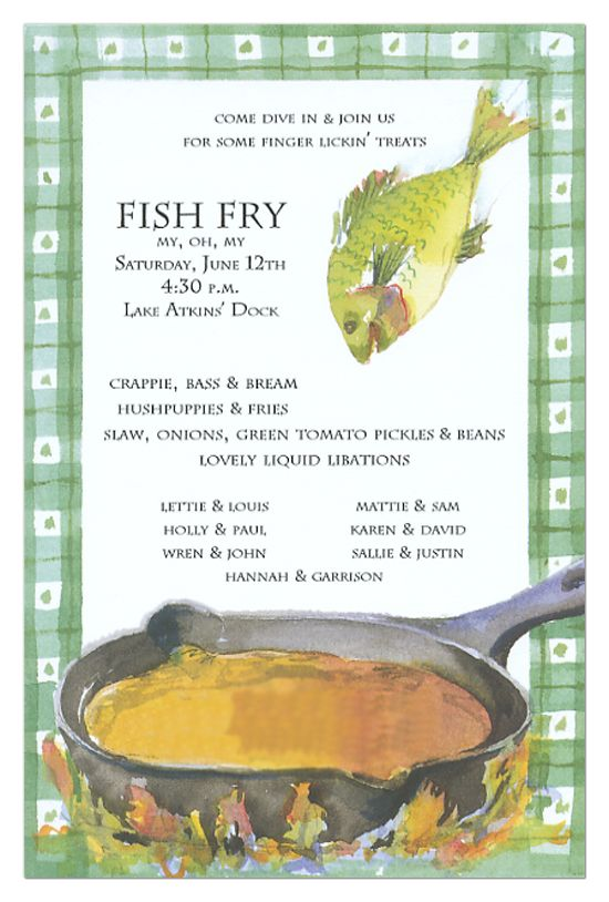 Fish Fry Invitation | The o'jays, Fish fry and For the