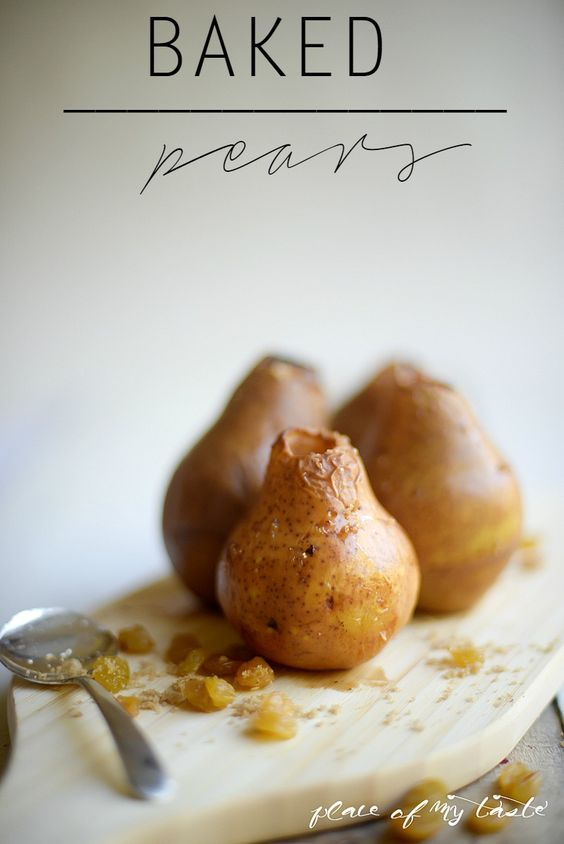 Baked Pear with Raisins-Placeofmytaste: