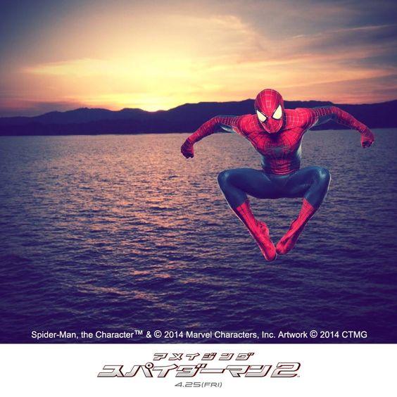 スパイダーマン™と一緒に写真を撮ったよ!!  ココで http://www.Amazing-Spiderman.jp/feature/caughtoncamera/ スパイダーマンと一緒に写真を撮ろう!|映画『アメイジング・スパイダーマン2』4月25日(金)全国公開